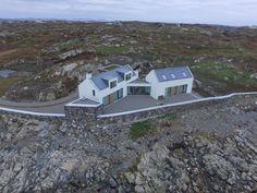 Eco Home, Connemara, Co. Connemara, House Designs Ireland, Modern Bungalow House, Bungalow Bedroom, House Outside Design, Bungalow Extensions, Modern Farmhouse Exterior, House Layouts, Building A House