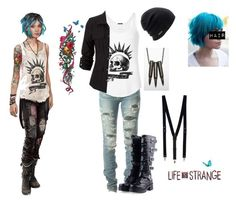 """Chloe Price Cosplay"" by livyv123 ❤ liked on Polyvore featuring Yves Saint Laurent, Coal and Topman"
