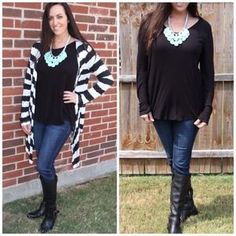 I just discovered this while shopping on Poshmark: High low long sleeve tunic. Check it out!