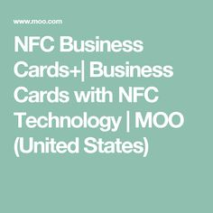 Passive rfid nfc business card nfc cards pinterest business nfc business cards business cards with nfc technology moo united states reheart Images
