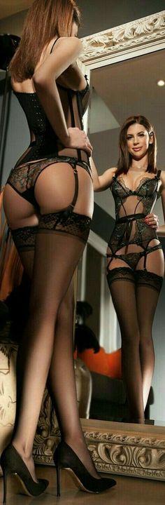 Sexy girl in Hot Lingerie Hot Lingerie, Black Lingerie, Lingerie Outfits, Lingerie Models, Stockings And Suspenders, Sexy Stockings, Stockings Lingerie, Sexy Women, Sexiest Women