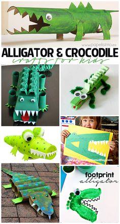 Creative Alligator & Crocodile Crafts for Kids to Make! | CraftyMorning.com