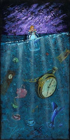 Jim Salvati's Peculiar Things - From Alice in Wonderland Limited Edition Fine Art Alice In Wonderland Paintings, Alice In Wonderland Aesthetic, Wonderland Alice, Cartoon Wallpaper, Disney Phone Wallpaper, Art Disney, Disney Kunst, Alice Disney, Animes Wallpapers