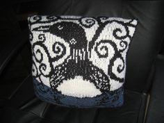 Spirit Loon pillow.  I downloaded this chart on  witchwolfwebcreations