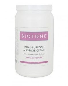 Massage Oils and Lotions: Biotone Dual Purpose Massage Creme 68 Oz. - Half Gallon BUY IT NOW ONLY: $42.0
