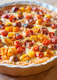 Dine & Dash: summer tomato tart with basil and roasted tomato filling