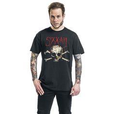 """Classica T-Shirt uomo nera """"Skull"""" dei #SixxAM"""