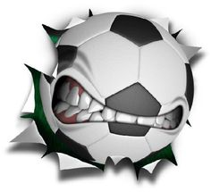 "36"" Soccer mean ball logo Wall Graphic Sticker Color Decal Home Game Kids Boys Girls Room Garage Den Man Cave Decor"