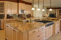granite to go with light wood cabinets | -cabinets-traditional-light-wood-194-sdn007-bi-level-island-granite ...