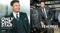 Ryan Seacrest is launching a fashion collection with Macy's, but do men really want to dress like the host? Love My Man, Ryan Seacrest, Best Dressed Man, Do Men, How To Look Handsome, One Star, Mens Fashion, Fashion Suits, Collaboration