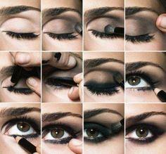 How to make smoked make-up...