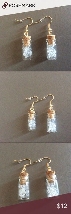 🎉Fashion Crystals in a Jar on my Ears🎉Cute!!💐🎉 🎉Crystals in a Jar on my Ears🎉 Too Cute!!💐🎉🌷Fashion Jewelry that is Too Darling! A Must Have Item🌹 Jewelry Earrings