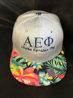 Alpha Epsilon Phi AEPHI Sorority Floral Hat - Brothers and Sisters' Greek Store