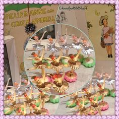 Vintage Ballerina cake toppers @ c&os