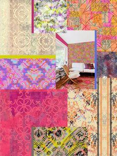 Liz Nehdi's collage of work by Maureen Lyttle, Kimberly Schmidt, Susanne Kasielke, Patrick Moriarty + Lisa Quick. More images at http://liznehdi.com/blog #MaureenLyttle #KimberlySchmidt #SusanneKasielke #PatrickMoriarty #LisaQuick #LizNehdi #LizNehdiStudio #Pattern #Print #TextileDesign