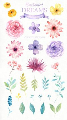 Enchanted Dreams Watercolor clipart, Romantic wedding, Watercolor Pastel, Flower Bouquet, Wedding in Watercolor Clipart, Watercolor Bird, Watercolour Painting, Simple Watercolor Flowers, Floral Watercolor Background, Watercolor Wedding, Simple Flower Painting, Watercolors, Watercolor Flower Wreath