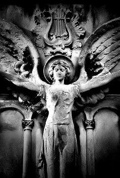 ☫ Angelic ☫ winged cemetery angels and zen statuary - Cemetery Angels, Cemetery Statues, Cemetery Art, Angels Among Us, Angels And Demons, I Believe In Angels, Ange Demon, Mystique, Angels In Heaven