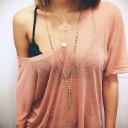 Pretty and delicate layered necklaces for women style 2017 (13)