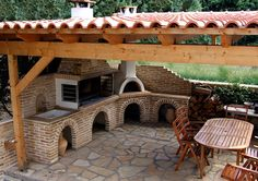 The Perfect Addition to the Home BBQ Hut – Home Decorating Outdoor Kitchen Patio, Pizza Oven Outdoor, Outdoor Kitchen Design, Outdoor Cooking, Backyard Patio, Backyard Landscaping, Outdoor Living, Parrilla Exterior, Bbq Hut