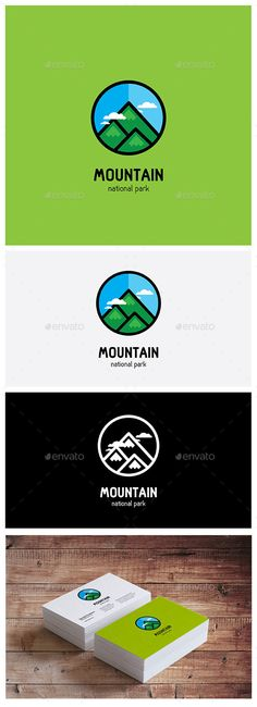 Mountain Park Logo Template  Editable Logo Vector Illustrator CS5 / Eps10Drag & Drop Vector Any model templates No Found, No Strok