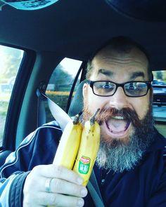 First #banana selfie of 2017 #instagram