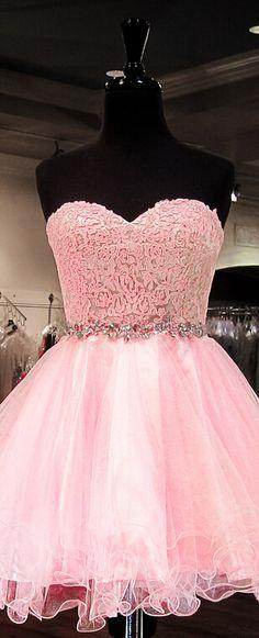 Charming Homecoming Dress Organza Homecoming Dress Lace Homecoming Dress Sweetheart Homecoming Dress