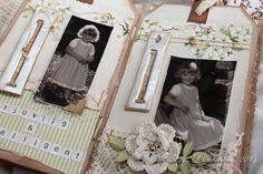 Hi, Theresa here with my second A Day in May project! I made a mini album with some old photos of my daughter. Thank you Marianne for the lovely flowers! The letter decorations are made with paper …