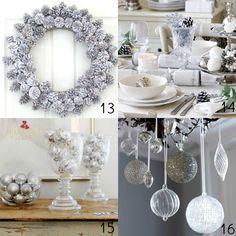 decoração natal prata - Pesquisa Google