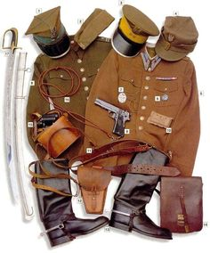 A Military uniform is the standardized dress worn by members of the armed forces and paramilitaries of various nations. Military dress and military styles Ww2 Uniforms, German Uniforms, Military Uniforms, Casco M1, Poland Ww2, Army Uniform, Central And Eastern Europe, Military History, Armed Forces