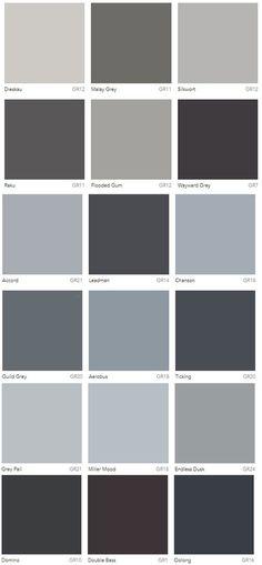 8 Best Grey Colour chart images R color palette, Color