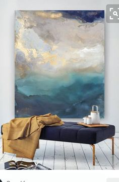 Minimalist scandi pottery, bench and oil painting with navy and copper accents - a . - Minimalist scandi pottery, bench and oil painting with navy and copper accents – a … # - Grand Art Mural, Navy And Copper, Copper Accents, Bachelor Of Fine Arts, Contemporary Abstract Art, Contemporary Artists, Painting Inspiration, Diy Art, Saint Helena