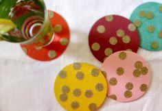 The Divine Minimalist: diy: confetti coasters