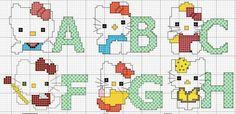 dozens of cross-stitch alphabet patterns Cross Stitch Alphabet Patterns, Cross Stitch Letters, Stitch Patterns, Cross Stitching, Cross Stitch Embroidery, Hello Kitty Crochet, Everything Cross Stitch, Alphabet Design, Embroidery Fonts