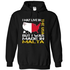 I May Live in the United States But I Was Made in Malta (Yellow) - T-Shirt, Hoodie, Sweatshirt