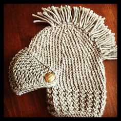 Hand knitted children's dress up knight in by NiftyNookDesigns, $30.00