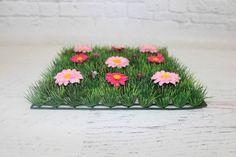 Pink Flowers Grass Mat   Pop Roc Parties