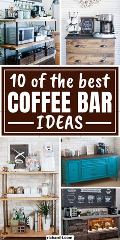 10 Best Coffee Bar Ideas You Need To Have 10 Of the best coffee bar ideas you can make for your home! These coffee bars are simply stunning! Get some inspiration from these coffee bar ideas right now! Coffee Bars In Kitchen, Coffee Bar Home, Coffee Corner, Kitchen Small, Diy Coffe Bar, Coffee Bar Ideas, Coffee Room, Coffee Barista, Coffee Bar Station