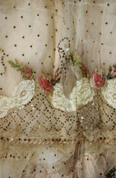 Dress trim | 1899 | Silk, tulle & cotton | The Metropolitan Museum of Art