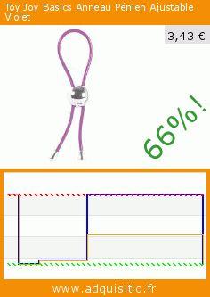 Toy Joy Basics Anneau Pénien Ajustable Violet (Beauté et hygiène). Réduction de 66%! Prix actuel 3,43 €, l'ancien prix était de 9,95 €. https://www.adquisitio.fr/toy-joy/basics-anneau-p%C3%A9nien