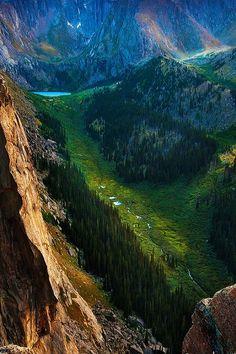 ponderation:  High Alpine Valley by Russ Shugart