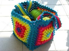 Love this granny square bag by ^kristen^!