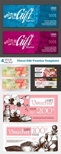 Vectors - Floral Gift Voucher Templates