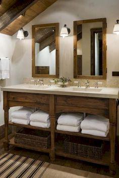 Gorgeous 30 Modern Farmhouse Bathroom Vanity Ideas https://bellezaroom.com/2017/12/22/30-modern-farmhouse-bathroom-vanity-ideas/