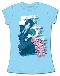 Black Butler T-Shirt - Sebastian and Ciel