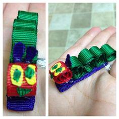 Hungry caterpillar hair clip