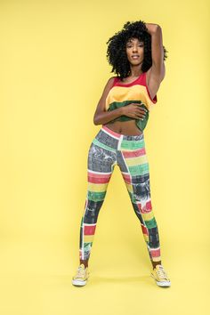 Be irie. Feel irie. Stay irie. Cooyah eco friendly, handprinted reggae leggings available earth wide at cooyah.com #dancehall #yoga