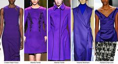 ORCHID Set to either purple or blue undertones, vibrant casts of orchid become the purple hue of the season. Pictured here: Chado Ralph Rucci, Alberta Feretti, Victoria Beckham, Richard Chai Love 2015 Color Trends, 2014 Fashion Trends, 2014 Trends, Fashion Colours, Colorful Fashion, Love Fashion, Runway Fashion, Winter Trends, Autumn Winter Fashion