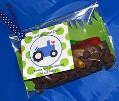 favors - tractor themed birthday party