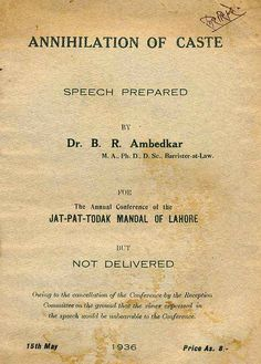 Ambedkar Action Alert: A Reply To The Mahatma Excerpted from Annihilation...
