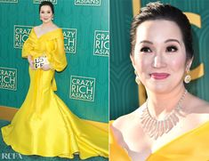 Kris Aquino In Michael Leyva - 'Crazy Rich Asians' LA Premiere - Red Carpet Fashion Awards Red Carpet Event, Go Green, Red Carpet Fashion, Celebrity Style, Awards, Asian, Yellow, Formal Dresses, Fashion Trends